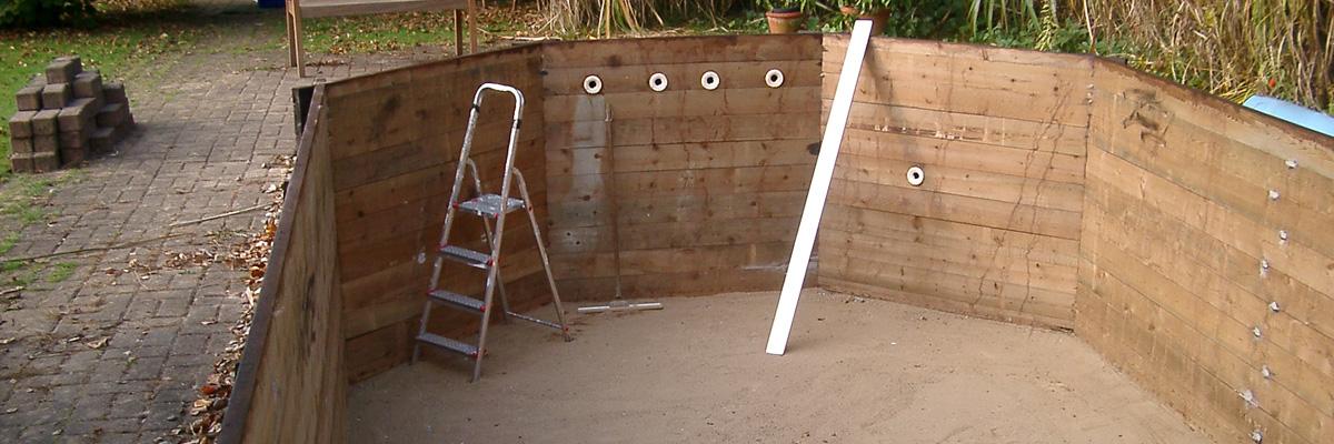 Schwimmbadrevonierung von Holzpools