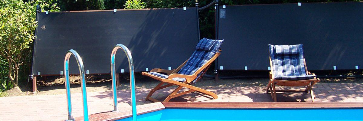 Speck Solarplatten auf Holzgestell